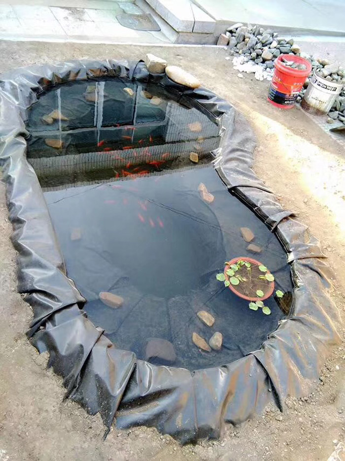 别墅庭院景观鱼池防渗膜